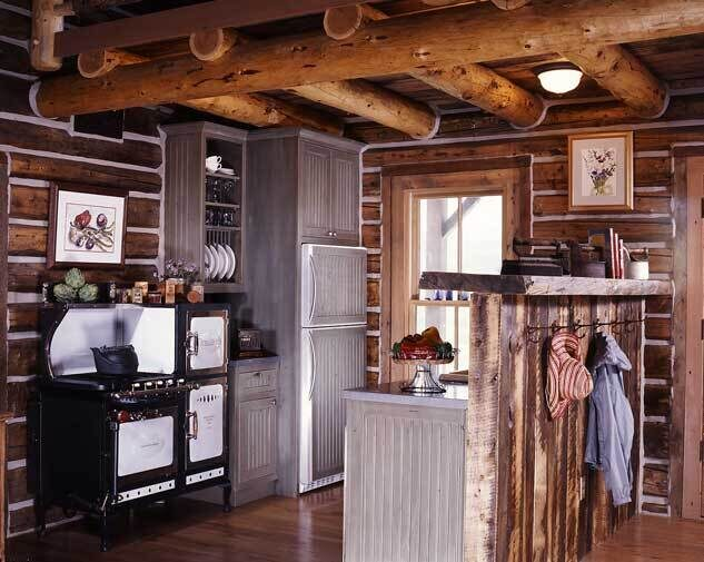 reclaimed_log_home_kitchen