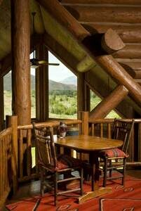 Idaho-log-home-loft-overlook