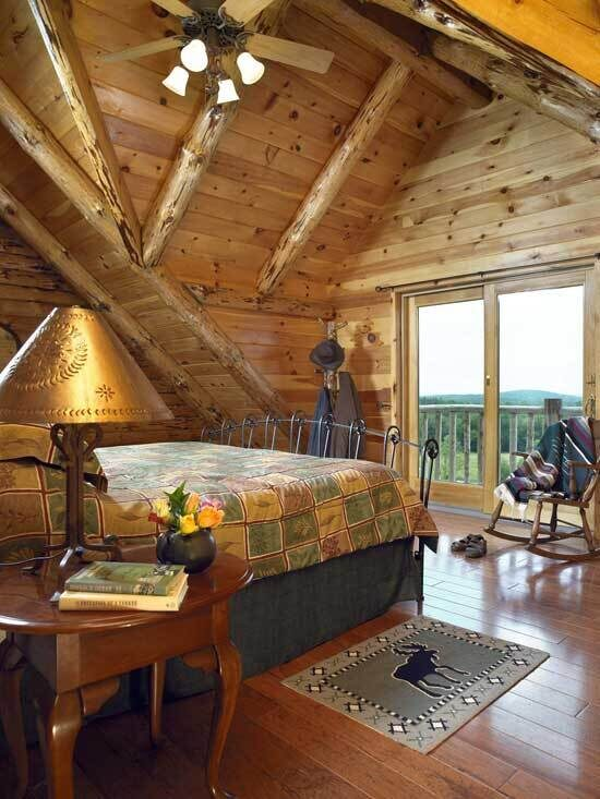 pennsylvania_log_home_bedroom